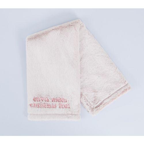 Personalised Pink Faux Fur Blanket