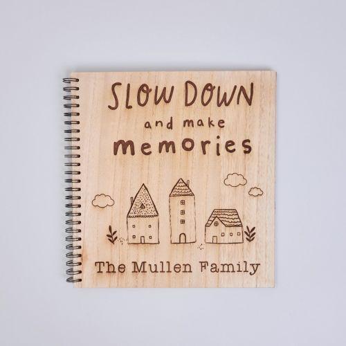Personalised 'Make Memories' Wooden Scrapbook