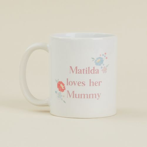 Personalised Floral Mother's Day Design Mug