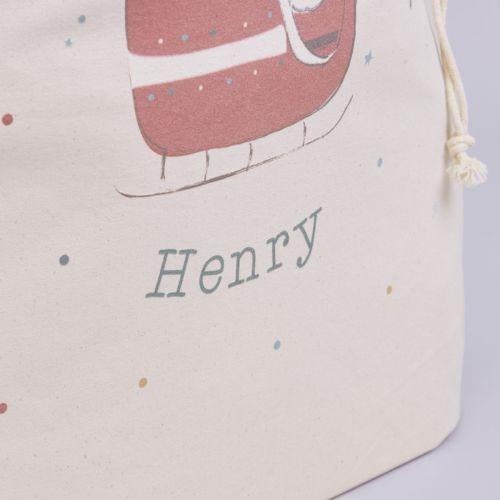 Personalised Santa Design Christmas Sack