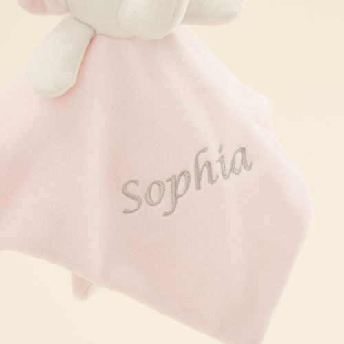 Personalized Pink Elephant Lovey