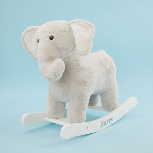 Personalised Grey Elephant Rocker Toy