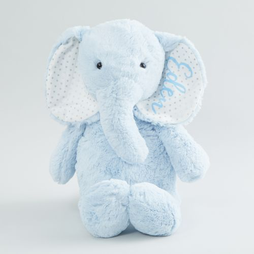Personalised Large Blue Elephant Soft Toy