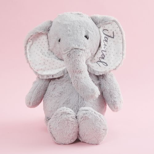Personalized Large Gray Elephant Stuffed Animal