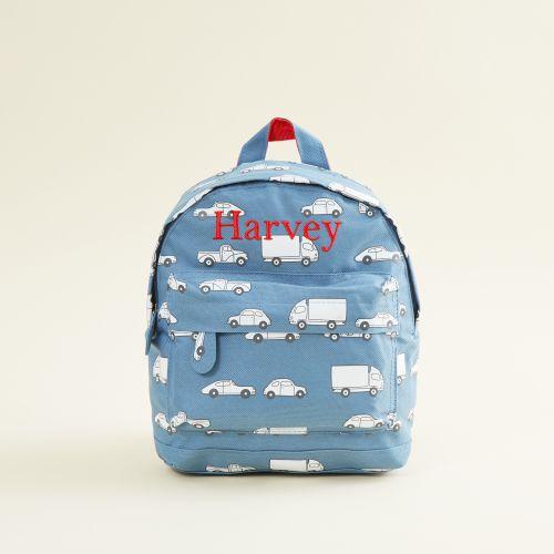 Personalized Car Print Mini Backpack