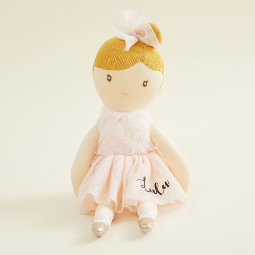 Personalized Ballerina Doll in Pale Pink Dress