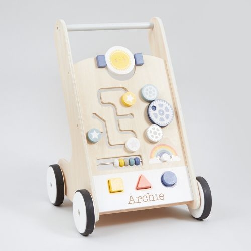 Personalised Wooden Push Along Activity Walker
