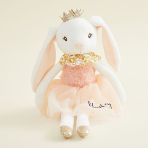 Personalized Princess Bunny Doll in Pink Dress