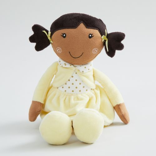 Personalised Doll in Yellow Dress