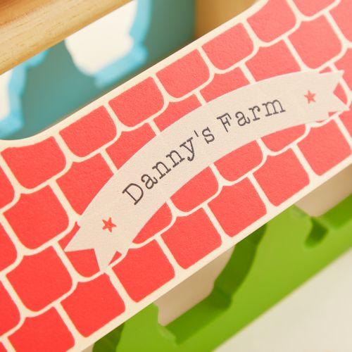 Personalised Big Jigs Wooden Farmhouse Sorter