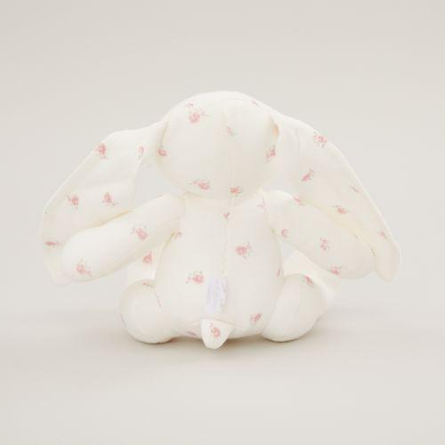 Personalized Floral Print Organic Bunny Stuffed Animal