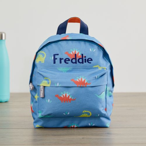 Personalised Colourful Dinosaur Mini Backpack