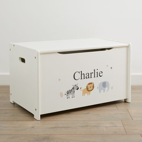 Personalised Jungle Design Toy Box