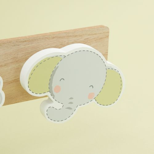 Personalised Bear and Elephant Children's Triple Coat Hook