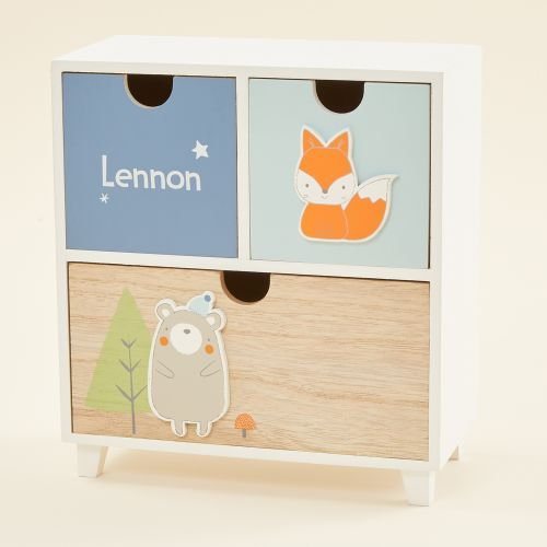 Personalized Blue Little Adventures Mini Keepsake Drawers