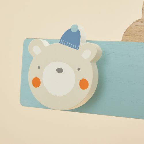 Personalised Blue Little Adventures Coat Hooks