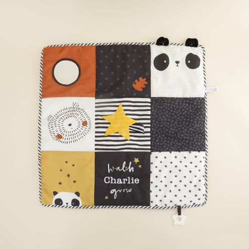 Personalized Panda and Bear Patchwork Activity Playmat