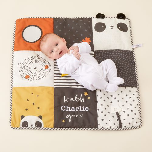 Personalized Panda and Bear Patchwork Activity Playmat Model