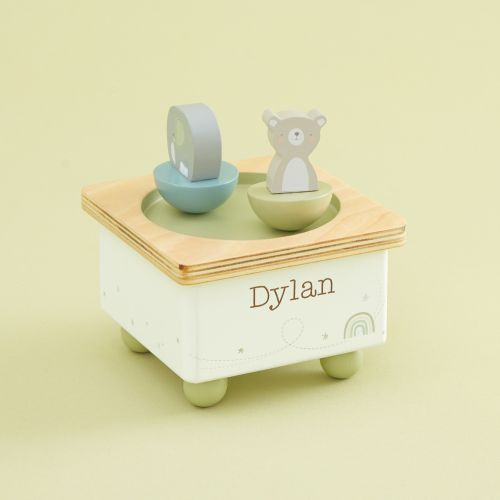 Personalized Bear and Elephant Music Box