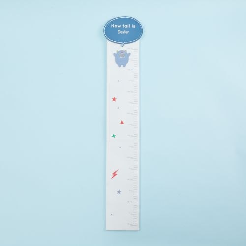 Personalised Little Monster Wooden Height Chart