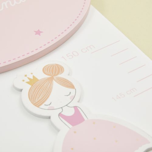 Personalised Fairytale Wooden Height Chart