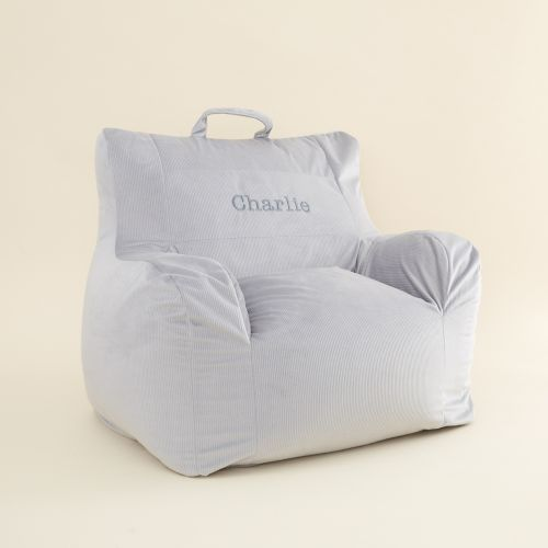 Personalised Grey Bean Bag Chair