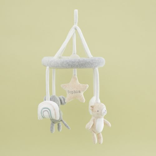 Personalized Bear and Elephant Baby Mobile