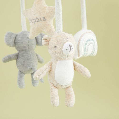 Personalised Bear and Elephant Baby Mobile