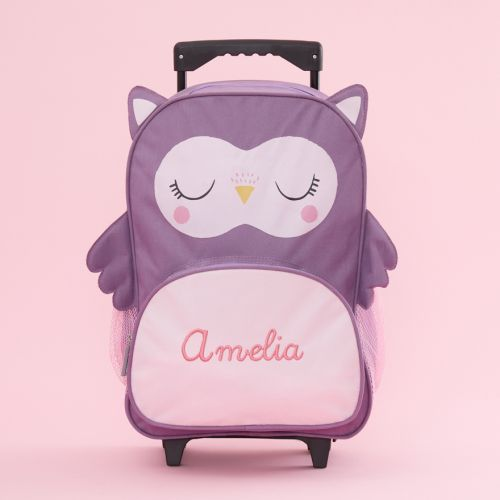 Personalised Pink Owl Children's Suitcase