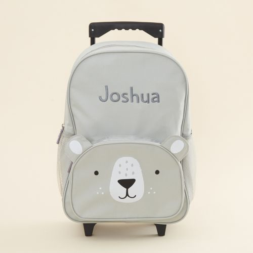 Personalised Grey Bear Children's Suitcase