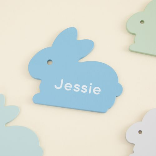 Personalized Blue Bunny Puzzle Toy