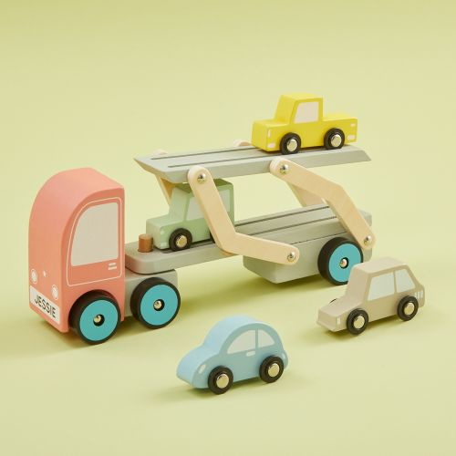 Personalized Transporter Lorry Wooden Toy