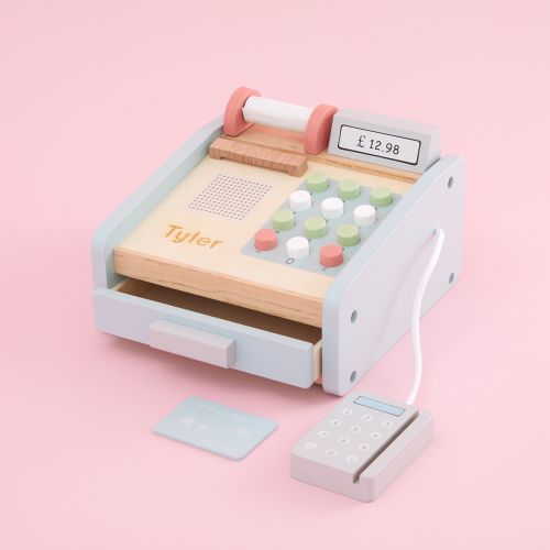 Personalized Cash Register Wooden Toy