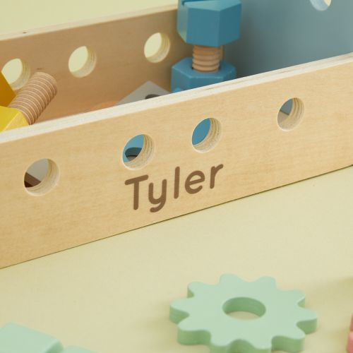 Personalized Wooden Tool Box Toy