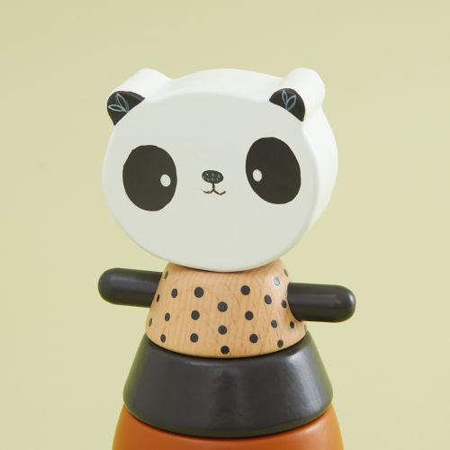 Personalized Panda Wooden Stacker Toy