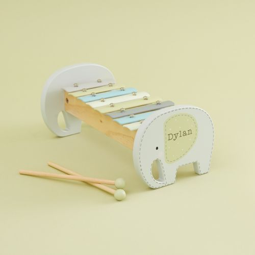Personalised Elephant Wooden Xylophone