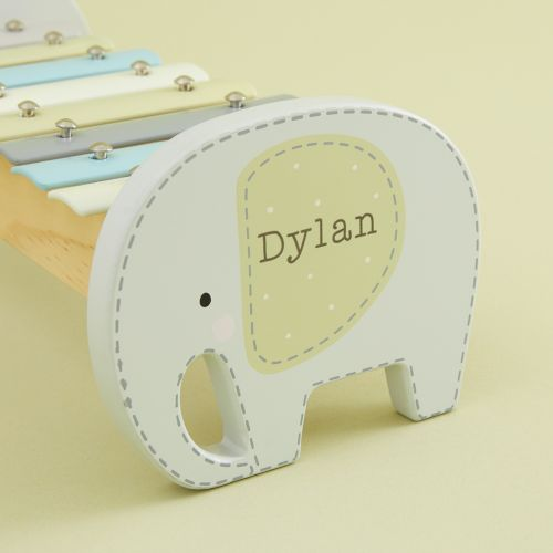 Personalized Elephant Wooden Xylophone