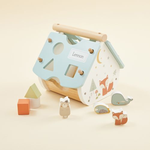 Personalized Woodland Animal Shape Sorter