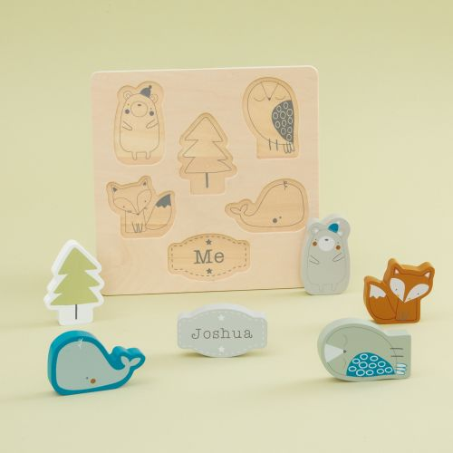 Personalized Wooden Woodland Friends Puzzle