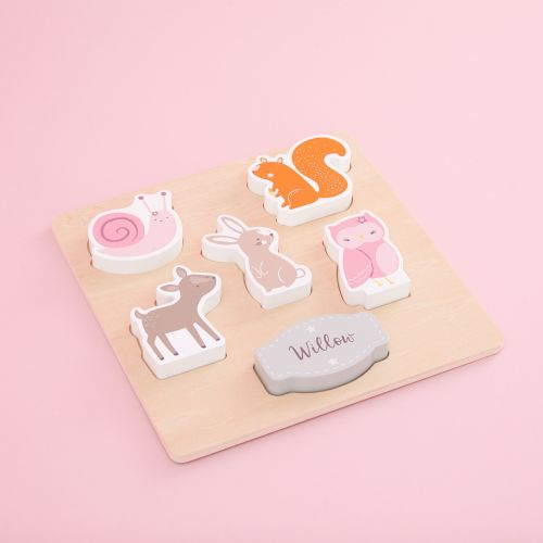 Personalized Wooden Woodland Animals Puzzle