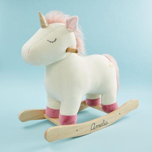 Personalised Plush Unicorn Rocker