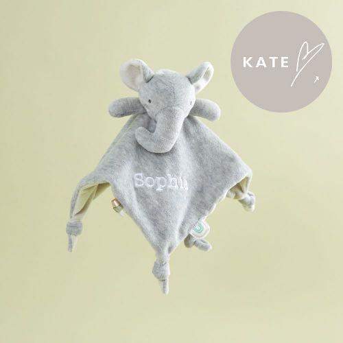 Personalised Grey Elephant Velour Comforter