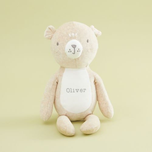 Personalized Cream Bear Stuffed Animal