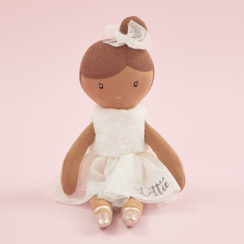 Personalised Ballerina Soft Doll with Dark Hair