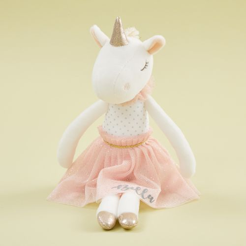 Personalised Unicorn Soft Doll