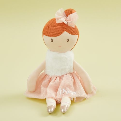 Personalized Ballerina Soft Doll with Ginger Hair