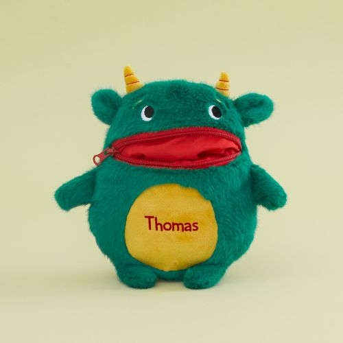 Personalized Green Worry Monster Stuffed Animal