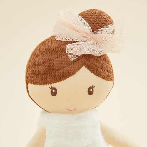 Personalized Large Ballerina Soft Doll with Brown Hair