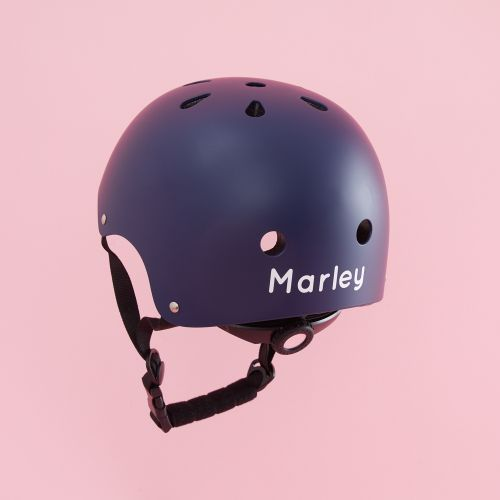 Personalised Banwood Classic Bicycle Helmet in Navy Blue Personalisation