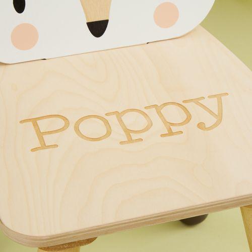 Personalised Tenderleaf Fox Design Children's Chair